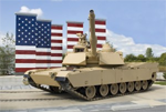 m1a2 and freedom flag memorial